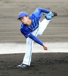 日本ハムとの練習試合に先発、3回を投げて1安打無失点と好投した入江(カメラ・頓所美代子)