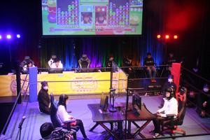 プロレスのリング上で行われた「ぷよぷよチャンピオンシップ」