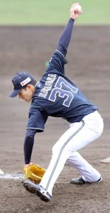 3番手でマウンドに上がった中川颯は2回無失点の好投を見せた