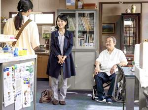 映画「いのちの停車場」の一場面