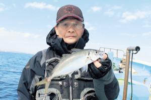 入野さんが釣った30センチ近いアジ
