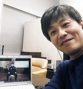 先日はJ1仙台の手倉森監督にリモートで取材しました(仙台放送提供)