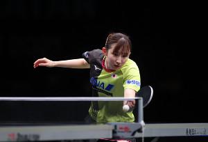 早田ひな(国際卓球連盟提供)