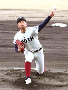 4回を無失点に抑えた大阪桐蔭・松浦