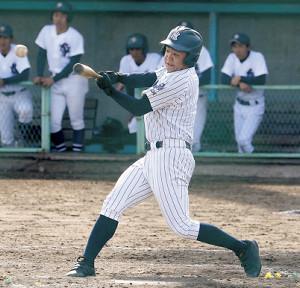 今年初の練習試合で5打数4安打5打点と活躍した八戸西・津嶋