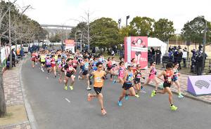 今年の大阪国際女子マラソンの様子