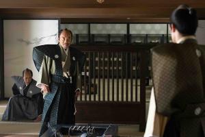 NHK大河ドラマ「青天衝け」の第5回で怒りの形相を見せる竹中直人