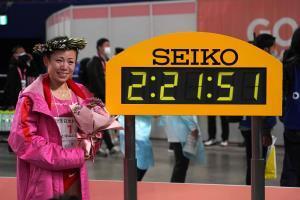 名古屋ウィメンズマラソンで優勝した松田瑞生