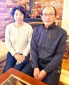 桃田が高校2~3年を過ごした寮「あるぱいんロッジ」の寮父母だった平山眞さんと妻のとし子さん