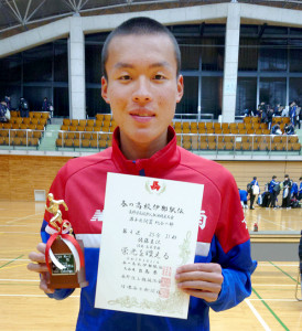 伊那駅伝男子で優勝した洛南のエース佐藤圭汰。潜在能力未知数の大型ランナーだ