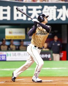 先頭打者弾を放った大谷翔平(2016年7月3日)
