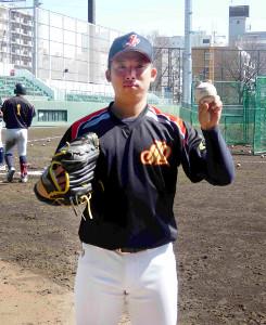 プロ入りを目指すエース左腕・金田泰成投手