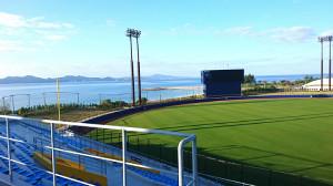14年ぶりに訪れた沖縄・名護の球場は、すっかり様変わりして立派に