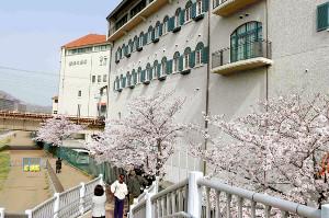 兵庫県宝塚市の宝塚音楽学校では、第109期生40人の合格発表を、昨年に続き、校舎裏では掲示しなかった(カメラ・筒井政也)