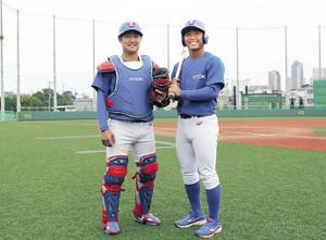 TDKで再び一緒にプレーする(左から)奥村幸太と伊藤優平