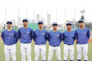 TDKの入社内定選手。左から佐藤哲矢、大関竜登、川原直貴、奥村幸太、伊藤優平、斎田海斗