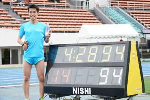 1500メートル(T37)アジア新記録を樹立した井草