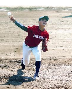 先発し、5回2/3を1失点に抑えた仙台大の川和田