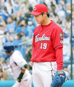 4回に宮崎に本塁打を打たれた野村祐輔