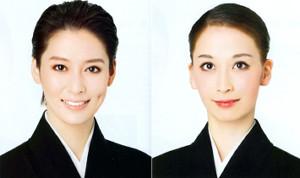 宝塚歌劇月組の次期トップコンビに決定した月城かなと(左)、海乃美月