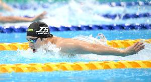 2位で五輪代表に内定した瀬戸大也の200メートルバタフライ
