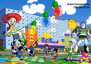 「東京ディズニーリゾート・トイ・ストーリーホテル」イメージ画像 (C)Disney/Pixar