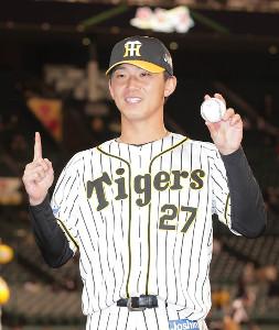 7日の巨人戦でプロ初勝利を挙げた阪神・伊藤将司