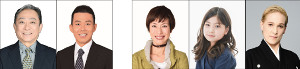 「松竹新喜劇 夏まつり特別公演」に出演する(左から)渋谷天外、藤山扇治郎、久本雅美、毎田暖乃、桐生麻耶(松竹提供)