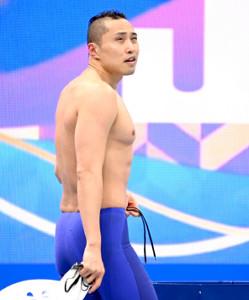 男子50m自由形決勝で4位に終わった塩浦慎理(カメラ・竜田 卓)