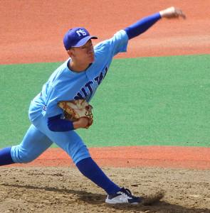 「3番・投手」で開幕戦に出場した日体大・矢沢