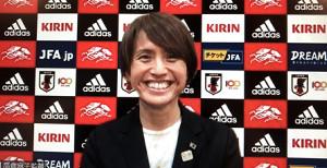 リモート会見した、なでしこジャパンの高倉麻子監督