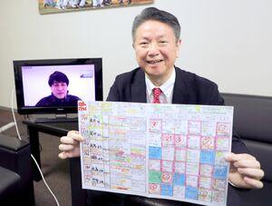 リモート対談を行った刈屋富士雄さん(手前)と冨田洋之さん