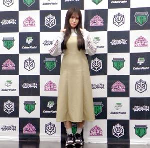 女子プロレス団体「東京女子プロレス」に本格参戦することを明かしたSKE48の荒井優希