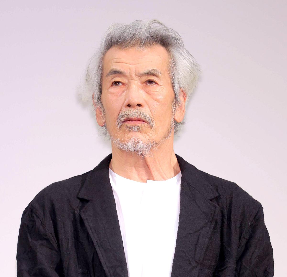 映画「いのちの停車場」完成披露試写会に登壇した田中泯