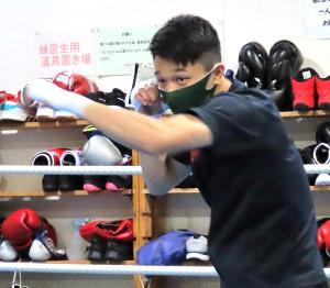 初防衛戦を想定して練習を行ったWBO世界フライ級王者・中谷潤人