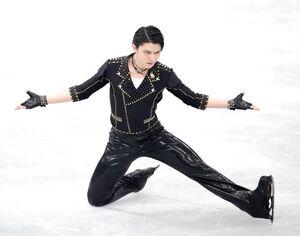 男子SPで2位となった羽生(代表撮影)