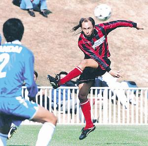 96年、JFL時代のコンサドーレでプレーするアルシンド