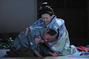 NHK大河ドラマ「青天を衝け」でキスシーンを演じた直後の竹中直人と原日出子