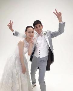 北川景子(左)と永山瑛太 リコカツオフィシャルブログより