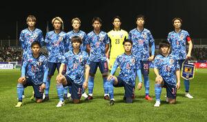 3月29日、U―24アルゼンチン代表戦に出場したU―24日本代表イレブン((c)JFA)