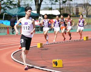 男子1500メートルで全体トップだったミラー千本真章