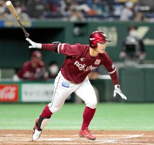 3回1死二塁、右前に勝ち越し打を放った茂木栄五郎