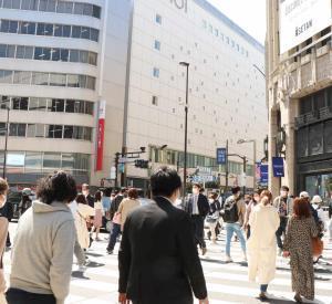 東京・新宿の街の様子
