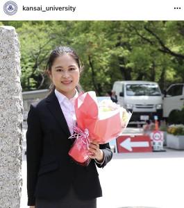 関大を卒業した宮原知子(@kansai_university)より
