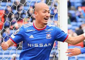 後半22分、同点ゴールを決めた横浜マリノス・前田大然