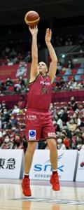 チームの連勝に貢献したファジーカス(C)KAWASAKI BRAVE THUNDER