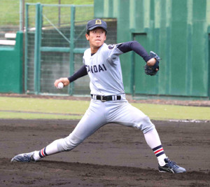 京産大の北山亘基は2失点で完投したものの今季2敗目を喫した