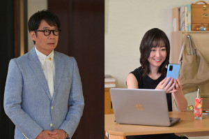 生瀬勝久(左)と黒川智花 (c)TBS