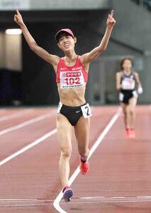 東京五輪参加標準記録を突破して優勝した広中璃梨佳