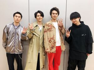 DISH//の(左から)泉大智、矢部昌暉、北村匠海、橘柊生